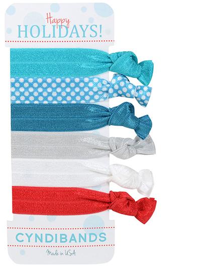 holiday 6 pack hair ties