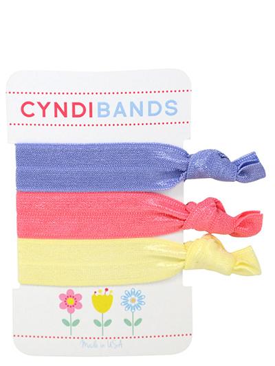 spring flowers hair ties 3-pack
