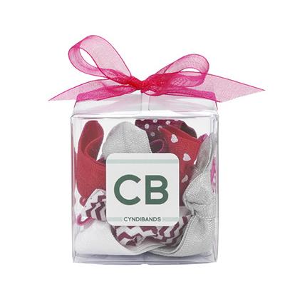 ribbon hair ties gift cube