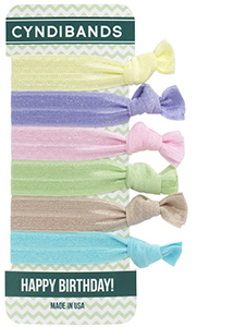 hair ties happy birthday card