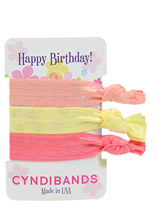 hair ties happy birthday 3 pack