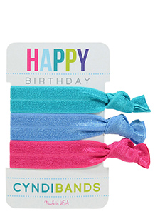 bright hair ties happy birthday