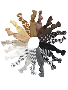 knotted hair ties mega set of 19