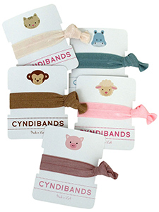 animal icons hair ties single packs