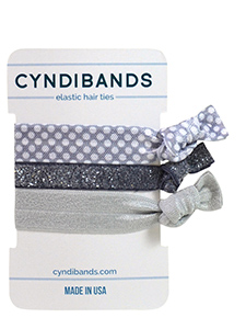 silver grey arm candy hair ties