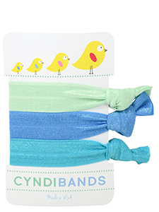 spring chicks hair ties 3 pack