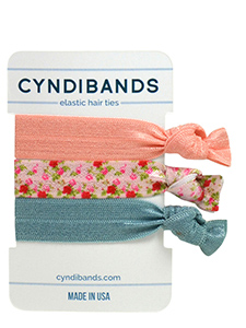 floral hair ties 3 pack