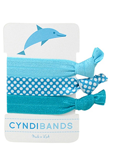 dolphin blue hair ties 3 pack