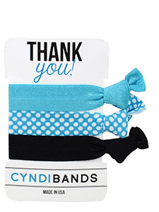 thank you gift hair ties 3-pack