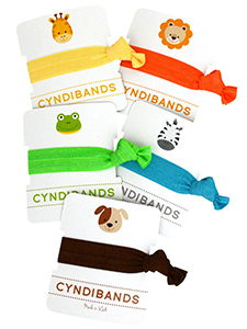 hair ties animal icons single packs
