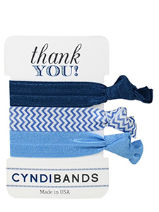 blue hair ties thank you 3 pack
