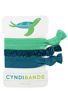 sea turtle hair ties 3 pack