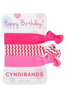 pink hair ties happy birthday card