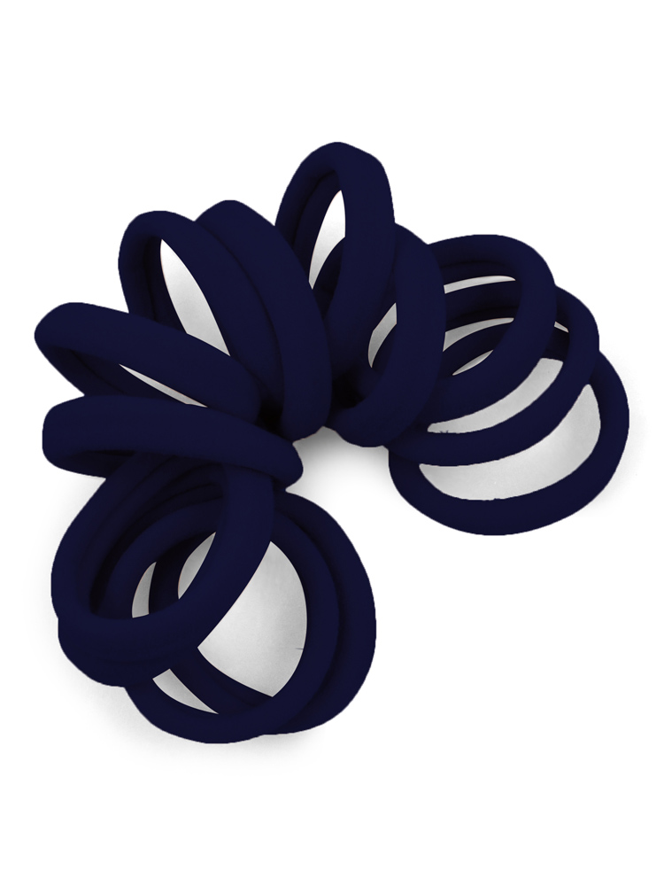 Navy Gentle Hold Seamless Fabric Hair Ties at Cyndibands.com e6ecb501fe4