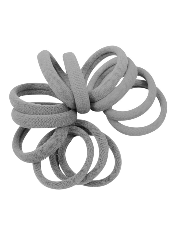 Gray Silver Strong Hold Seamless Hair Ties at Cyndibands.com aa4178ecfcc