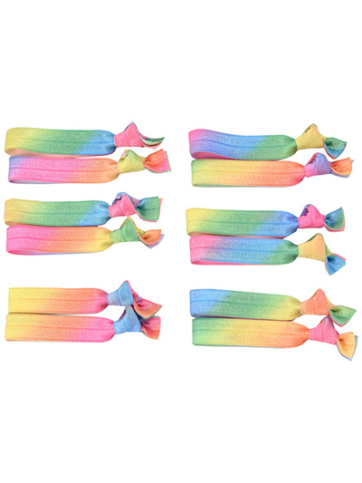 ombre elastic hair ties