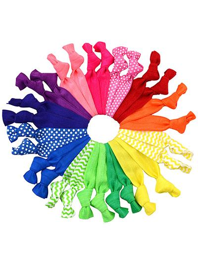 mega set knotted hair ties