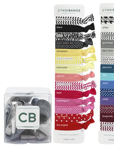 hair ties create a gift cube