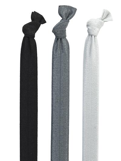 black grey headbands 3-pack