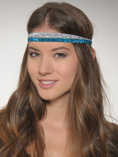 skinny glitter headbands 2 pack