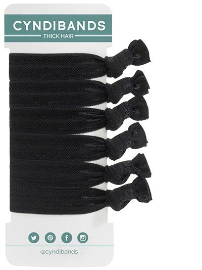 Black thick hair large hair ties at Cyndibands.com 1a42cc054a9