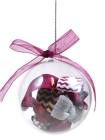 ornament with 6 hair ties