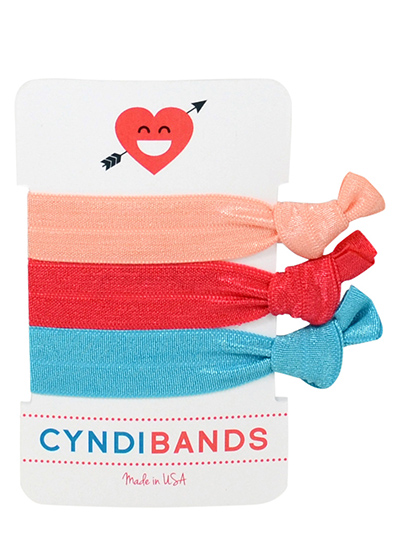 heart and arrow hair ties 3 pack