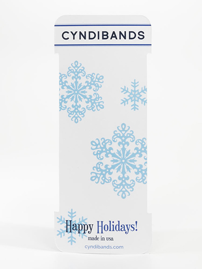 happy holidays hair ties