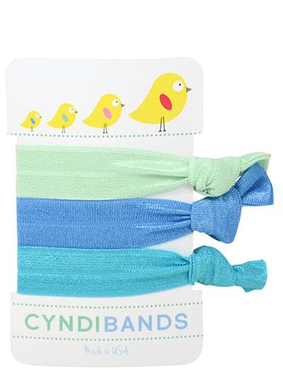 spring chicks hair ties 3 pack