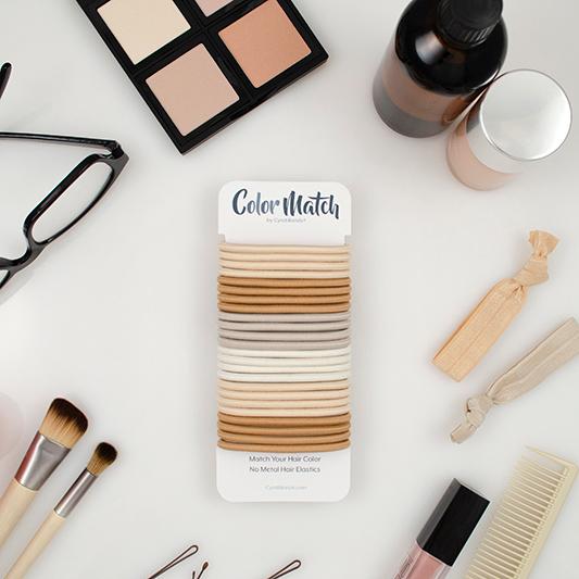 color match no-metal hair elastics