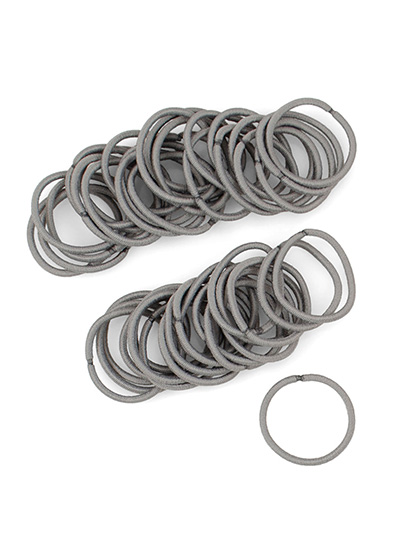 Gray Small 2mm Mini Hair Ties at Cyndibands.com
