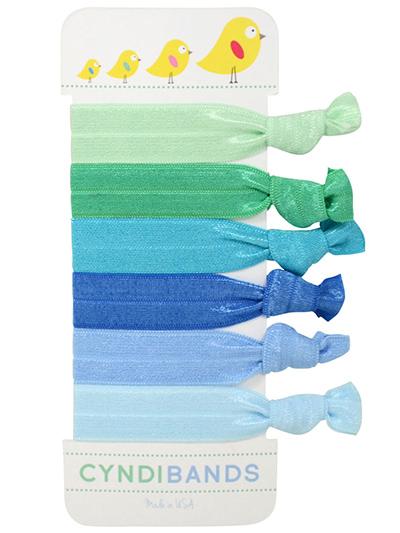 chicks green blue hair ties set