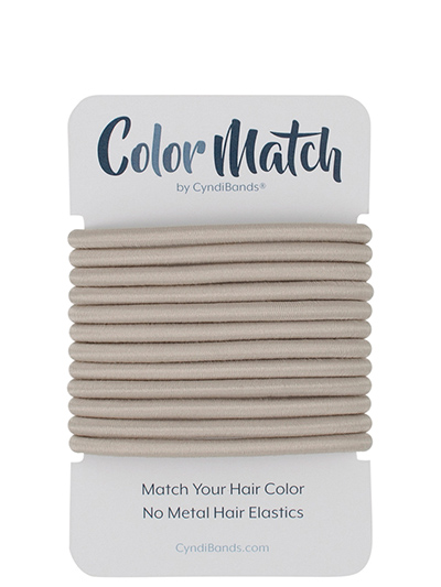 color match no-metal 4mm hair ties