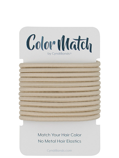 color match no-metal hair elastics ties