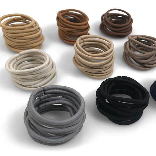 4mm no-metal hair elastics