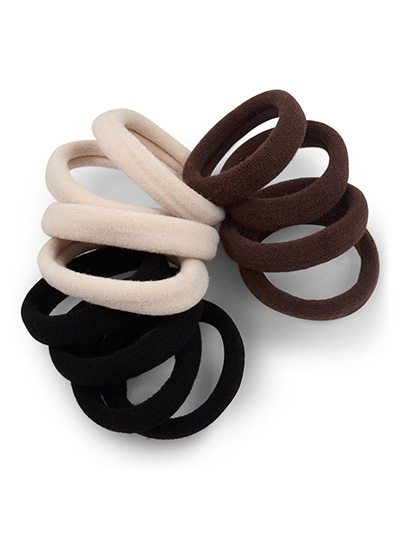 Classic Neutrals Gentle Hold Seamless Fabric Hair Ties at Cyndibands.com f57c5b9e5f3