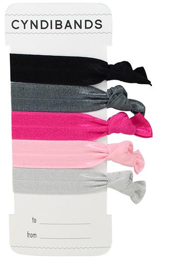 pink black hair ties gift card