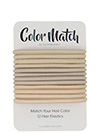 color match no-metal hair elastics