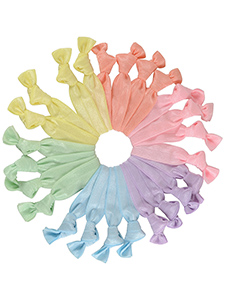pastel hair ties mega set of 24