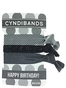 happy birthday hair ties 3 pack