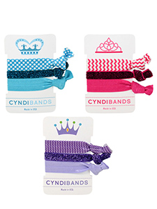 princess glitter hair ties gift set
