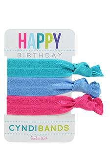 bright hair ties happy birthday