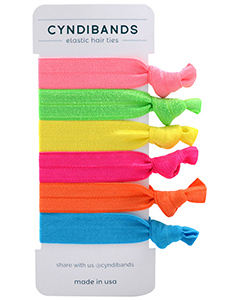 set of 6 elastic hair ties