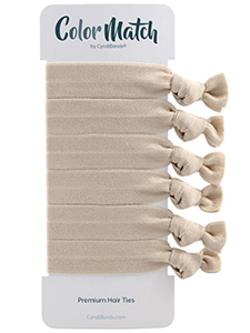 Ash Blonde Hair Ties 6 Pack