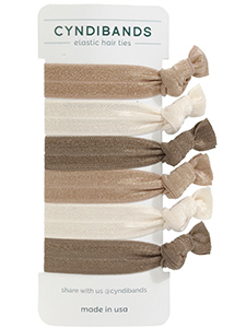 brown cream hair ties 6 pack