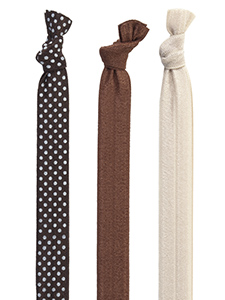 brown cream headbands 3-pack