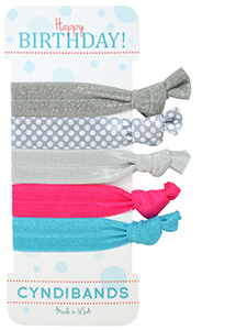hair ties happy birthday 5 pack