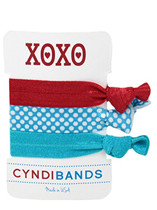 xoxo hair ties 3 pack gift card