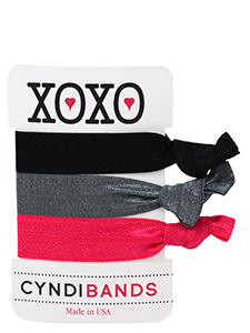 xoxo gift card hair ties 3 pack