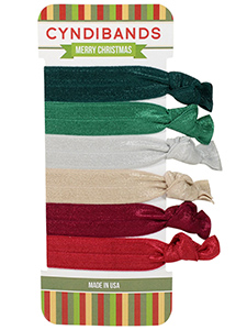 merry christmas hair ties gift set